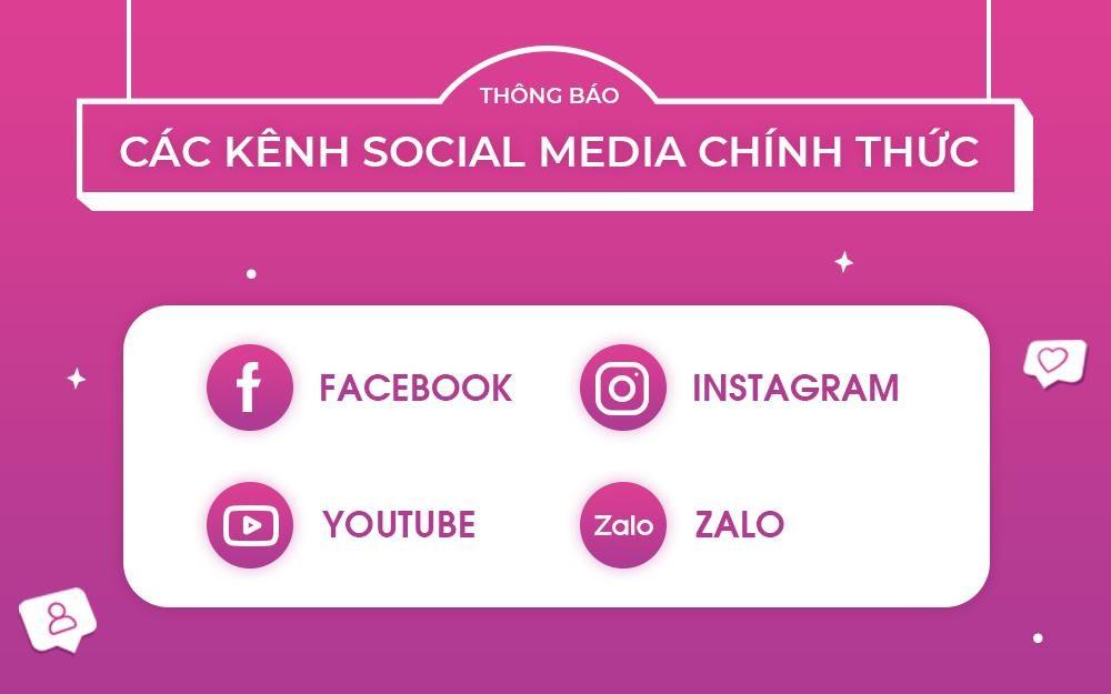 Thông báo các kênh mạng xã hội AEON MAL Hải Phòng Lê Chân