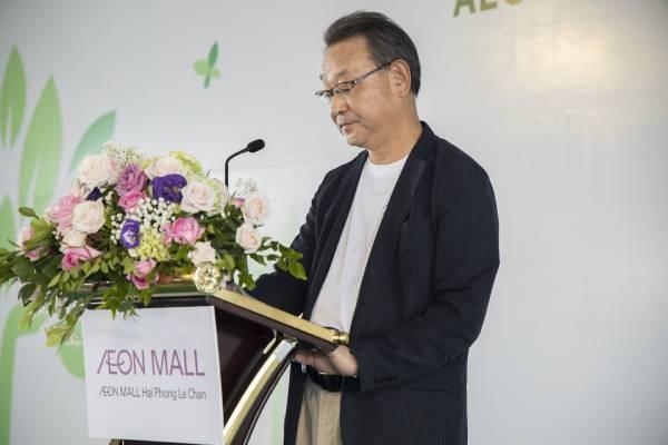 Ông Tamai Mitsugu – Giám đốc AEON MALL khu vực Đông Nam Á phát biểu tại buổi lễ