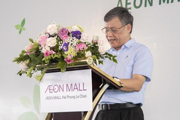 Ông Nguyễn Xuân Bình – Phó Chủ tịch thường trực UBND Thành phố Hải Phòng phát biểu tại buổi lễ