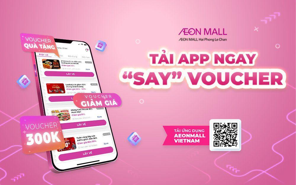 Hướng dẫn sử dụng tính năng e-voucher/ ưu đãi trên ứng dụng di động AEONMALL VIETNAM TẠI AEON MALL Hải Phòng Lê Chân