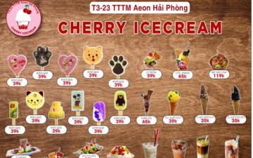 Thực đơn Cherry Icecream AEON MALL Hải Phòng Lê Chân