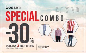 DISCOUNT 30% ON ANY 2 ITEMS OF MEN' SHIRT, JEAN & KHAKI PANTS