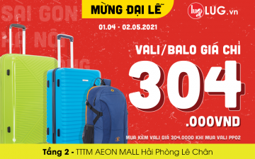 SPECIAL OFFERS FOR LARGE FESTIVALS – SUITCASE/BACKPACK PRICE ONLY VND 304.000