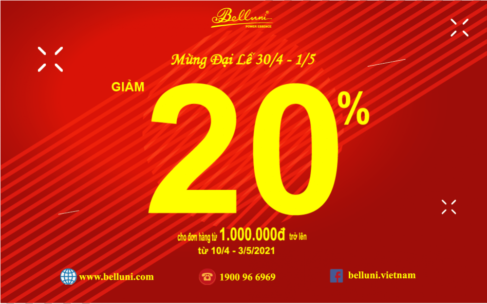 SALE OFF 20% FOR ORDER FROM VND 1,000,000